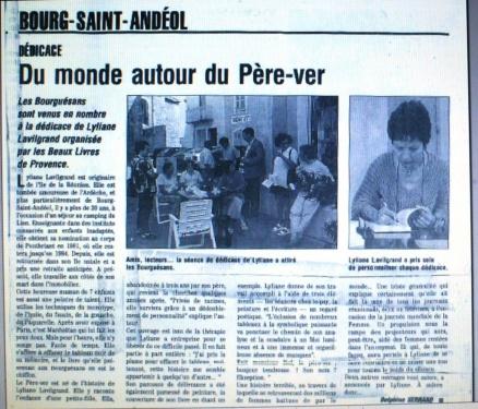 dédicace en Provence