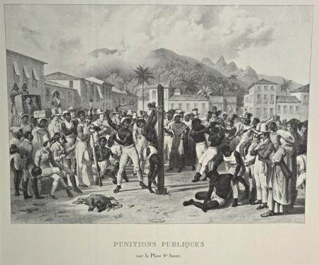 Punitions publiques sur la place Sainte Anne 1830 au Brésil