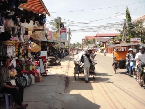 Une rue de Siem Reap