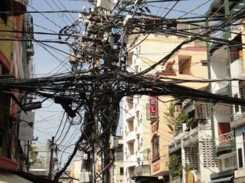 Installation électrique normale à Saïgon