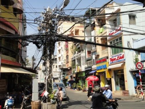 Pelote de fils  électriques