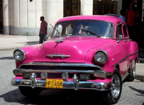 Carrément fuchsia à la Havane !