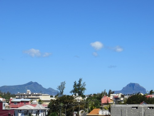 Une vue de Flic en Flac depuis la terrasse
