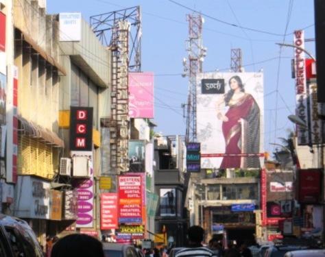 Rue animée de Bangalore