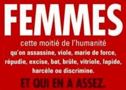 les Droits HUMAINS des femmes sont assassins dans l'indiffrence !