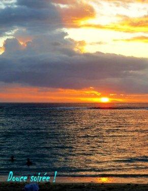 Coucher de soleil...tropical !