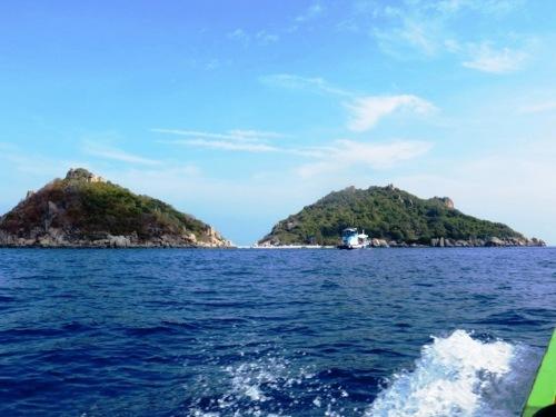 Nang Yuan, 2 îlots reliés par un banc de sable à marée basse