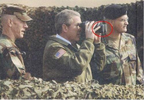 Bush et jumelles bouchées!