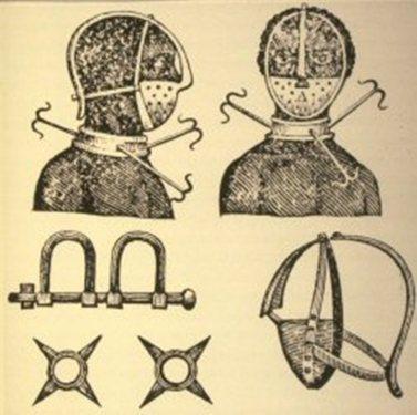 Quelques instruments de torture pour esclaves