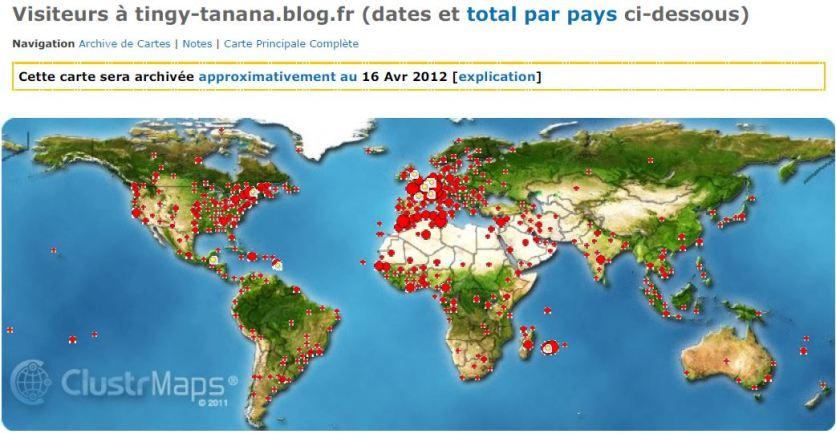 161 PAYS visiteurs sur 192 (ONU) !