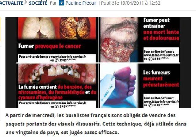 Cigarettes et cancer sur le Figaro